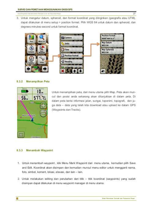 Dasar Dasar Survei Dan Pemetaan survei dan pemetaan menggunakan gps