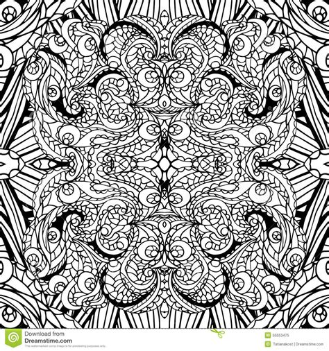 tribal pattern outline abstract swirl ethnic seamless pattern outline stock