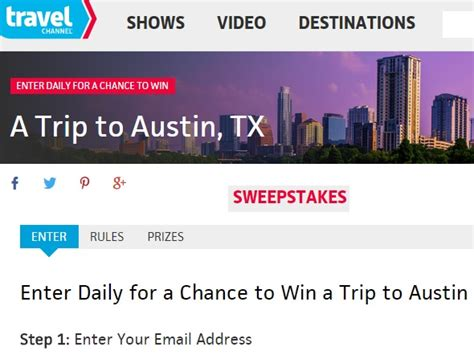 Travel Com Sweepstakes - travel channel sweepstakes 2015 win a trip to austin sweeps maniac
