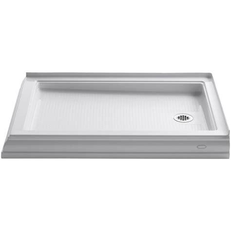 48 Inch Shower Base by Kohler Memoirs 48 In X 34 In Threshold Shower Base In White K 9548 0 The Home Depot