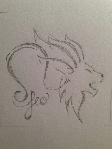 pencil tattoo leo for zodiac pencil sketches