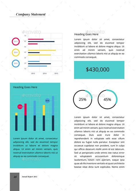 annual report template   word excel   psd documents   premium
