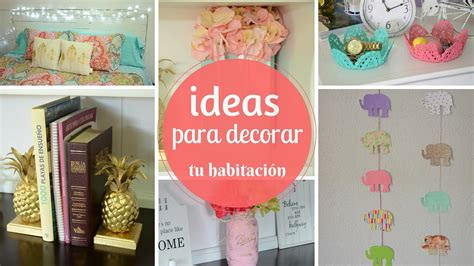 ideas para decorar la habitacion con fotos ideas para decorar tu habitaci 211 n youtube