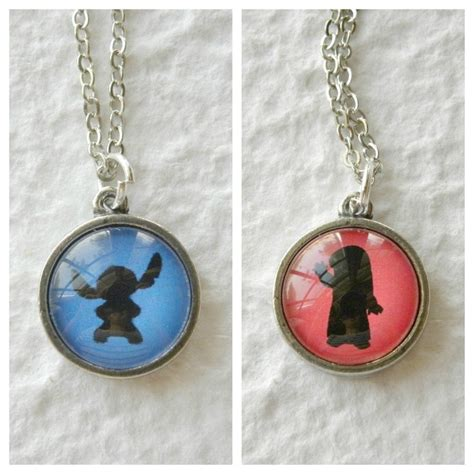 Stitch and Lilo Necklace   Inspired by Disney's Lilo and Stitch   Disney, Couple necklaces and