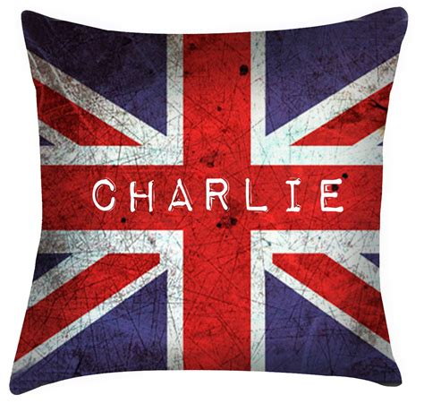 union jack cusions comic funky style cushion personalised with any name
