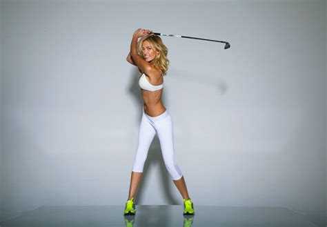 paulina gretzky golf swing paulina gretzky s golf digest cover draws hate from lady