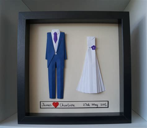 Origami Paper Discount - wedding anniversary gift personalized origami and