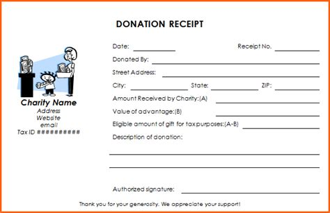 9 donation receipts examples samples