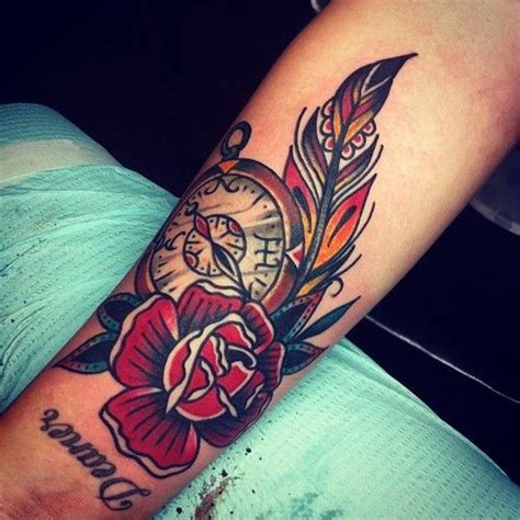 feather and rose tattoo feather search tattoos