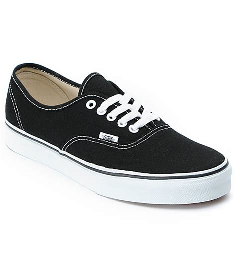 vans authentic black and white skate shoes zumiez