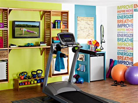 decorating a home gym colorful and inspiring home gym design digsdigs