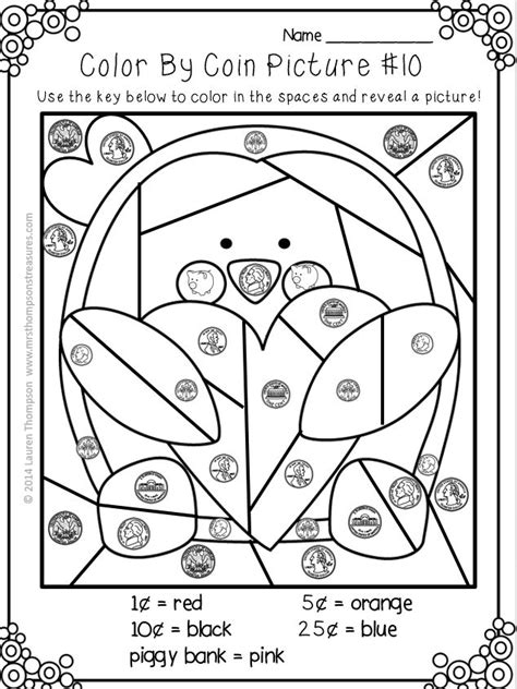 coloring pages money math 186 best worksheets images on pinterest math activities