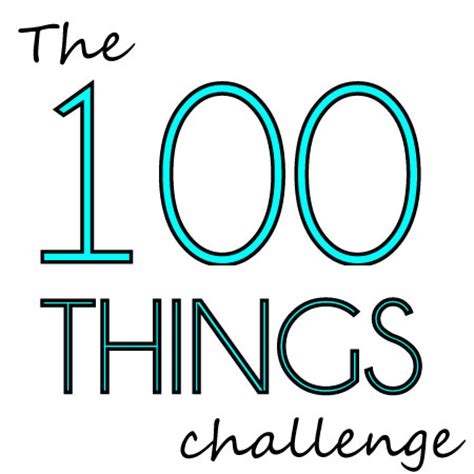 100 things challenge the quot 100 things quot challenge white lights on wednesday