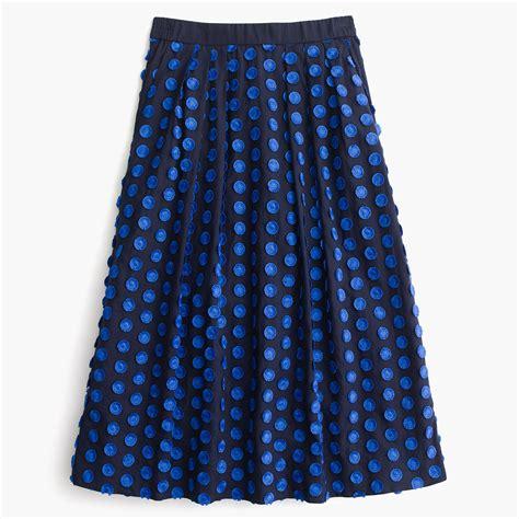 midi skirt in fringe dot skirts j crew