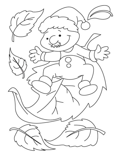 leaf man coloring page man with leaves coloring pages download free man with