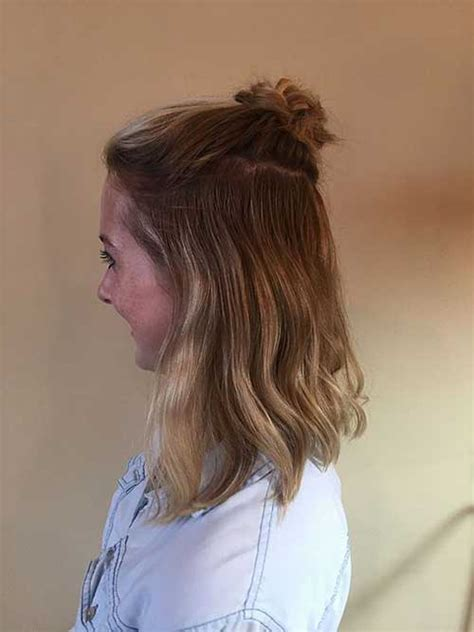 hairstyles with half bun really stylish trending half bun hairstyles hairstyles