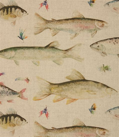 voyage decoration river fish small fabric linen just