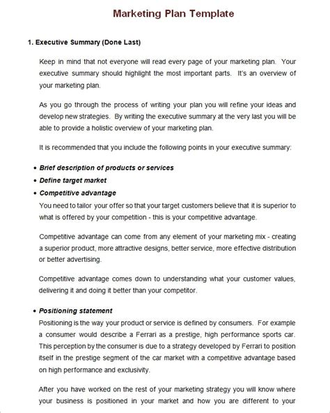 simple marketing plan template for small business page templates free marketing business plan template