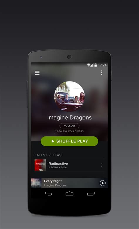 spotify app android la nouvelle version de spotify s invite sur android