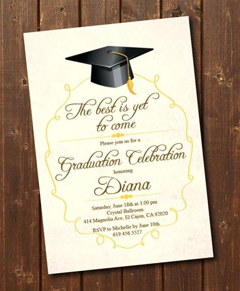 Graduation Photo Card Templates Free by Awesome Graduation Announcement Cards Templates Or College