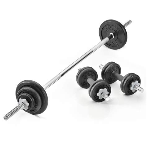 Dumbel Barbel york 35kg cast iron barbell and dumbbell set sweatband