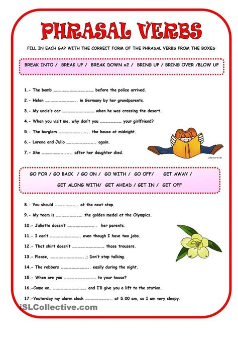 10 phrasal verbs with back with meaning and exles 531 best images about exercises on pinterest present