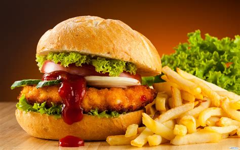 and burger chicken burger