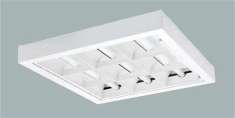 2x2 Fluorescent Light Fixtures Shallow Surface Mount Parabolic 2x2 Light Fixtures 2x2