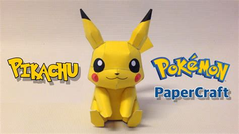 Pikachu Papercraft - how to make pikachu papercraft from go w o go
