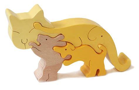 Puzzle Kayu Baby Animals ginga kobo toys rakuten global market cat standing
