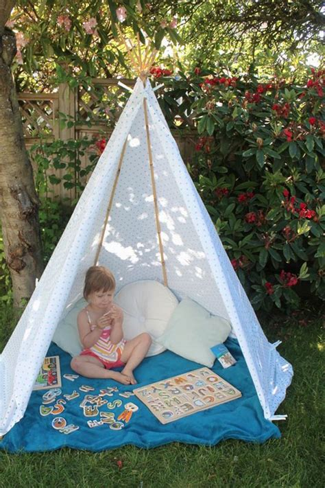 backyard teepee tent cheerful outdoor teepee for kids playhouse home design