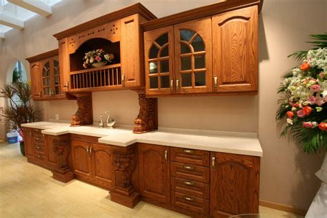 Oak Kitchen Furniture Oak Kitchen Cabinets Casual Cottage