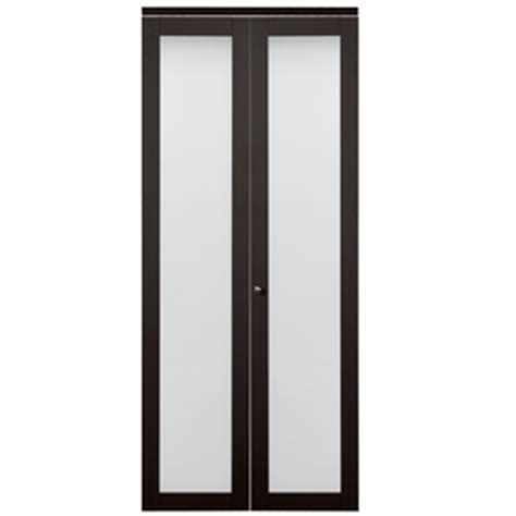 36 Inch Bifold Closet Doors Shop Kingstar Espresso 1 Lite Solid No Skin Tempered Frosted Glass Bifold Closet Door
