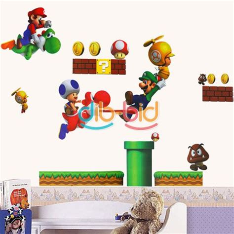 mario wall stickers new mario bros pvc removable wall sticker home decor