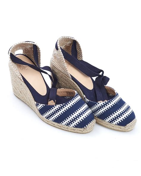 Wedges Stripe Navy Limited casta 241 er womens carina8 espadrilles merino navy blue white stripe wed