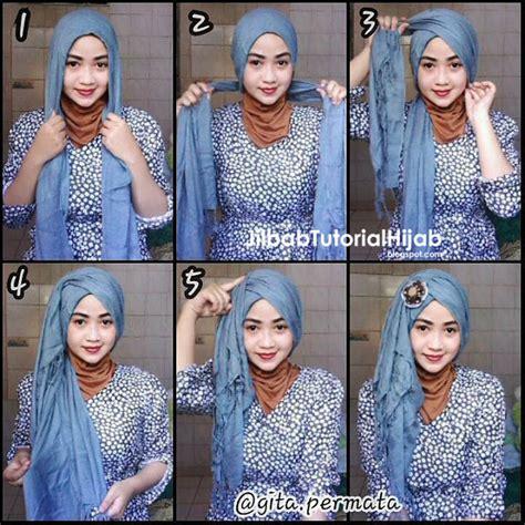 tutorial hijab turban pashmina terbaru 6 tutorial hijab pashmina untuk pesta jilbab tutorial hijab