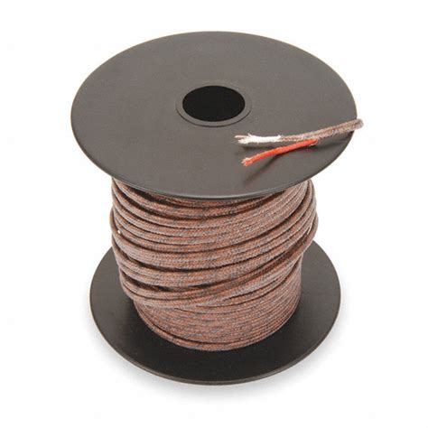 J Wire by Tempco 100 Ft Stranded Fiberglass J Wire Thermocouple