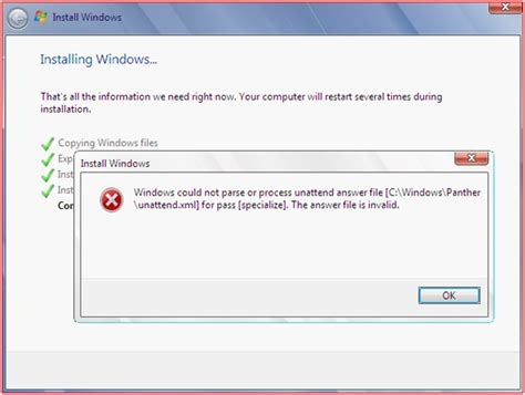 xp setup error windows 7 rich s blog