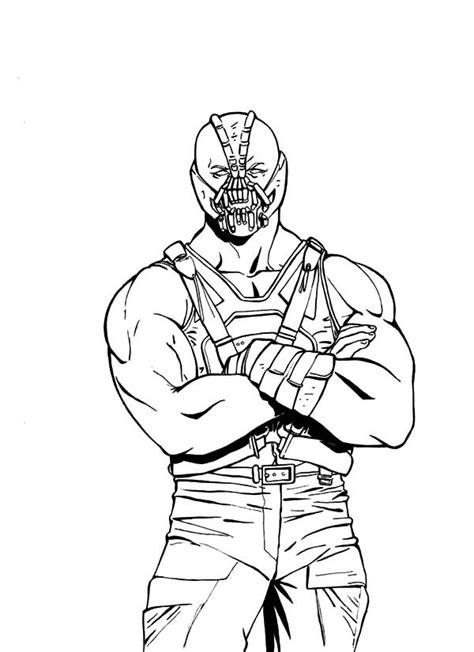Bane Coloring Page free coloring pages of batman and bane
