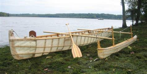 boat made of skins skin on frame trimaran anyone small trimarans