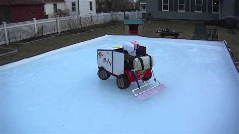 backyard rink zamboni kid s zamboni youtube