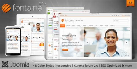 best website templates for small business fontaine a clean responsive joomla template kunena 2 0