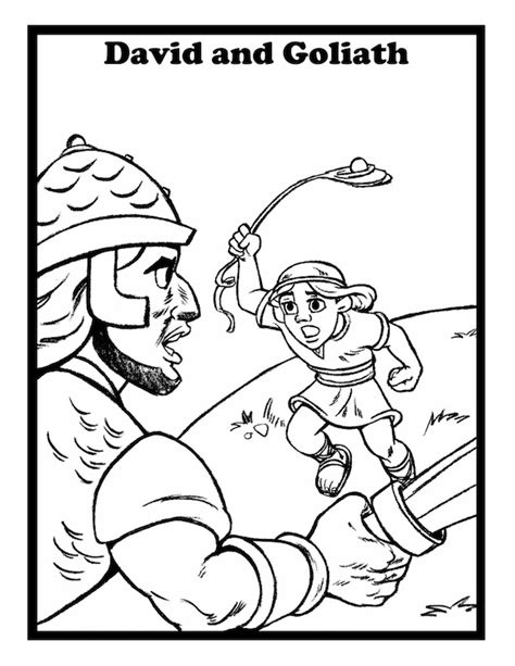 Coloring Page Goliath by David And Goliath Pictures Az Coloring Pages