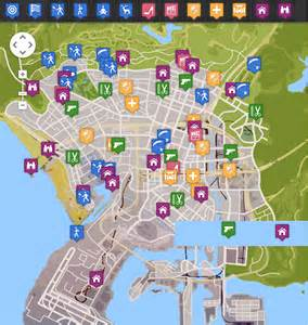 Partial screen capture of the interactive infographic gta v map