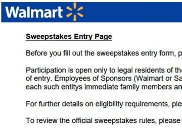 October Sweepstakes - walmart august october sweepstakes