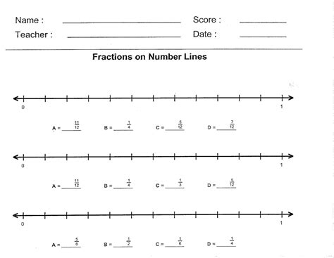 printable equivalent fraction number line 19 best images of equivalent fraction strips worksheet 1 2