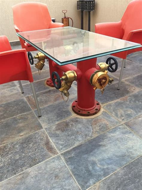 fire hydrant table shared  lion hot stuff