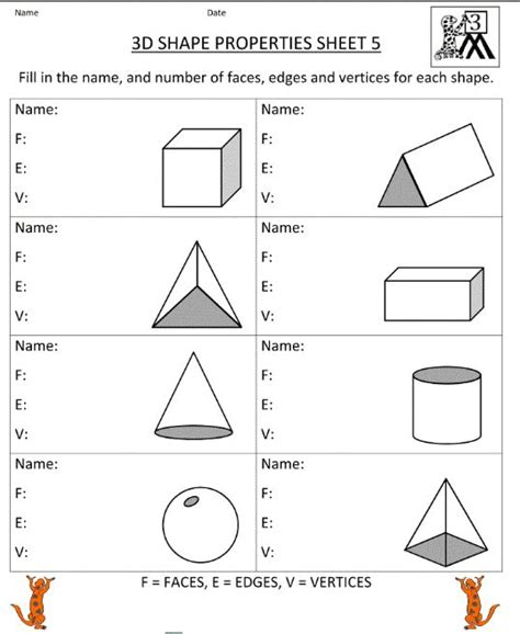printable math worksheets faces edges and vertices free worksheets 187 sides and vertices worksheets free
