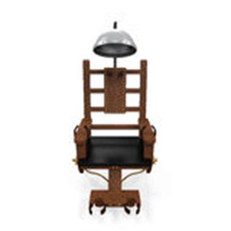 afbeelding elektrische stoel elektrische stoel met skelet stock illustratie