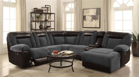grey reclining sectional sofa grey leather reclining sectional steal a sofa furniture